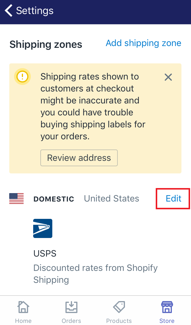 how to delete all the shipping rates for a region or country